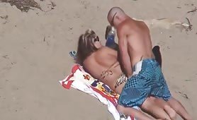 Nasty beach sex with cumshot